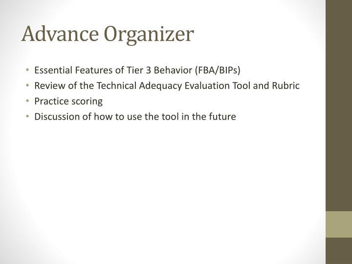 Advance organizer