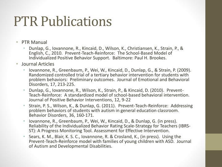 PTR Publications