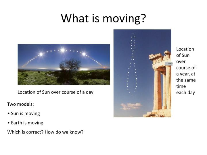 What is moving?
