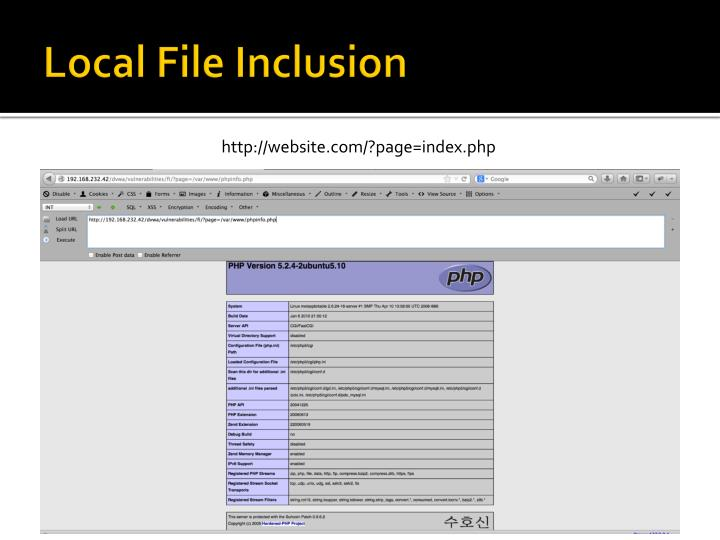 Local File Inclusion