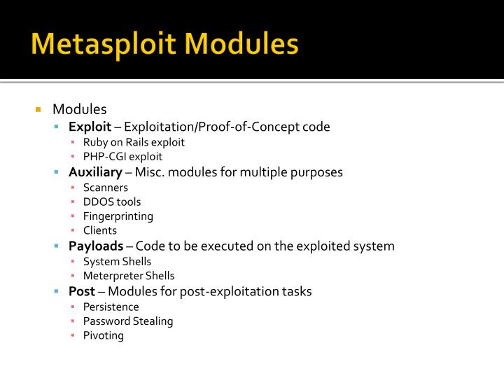 Metasploit Modules