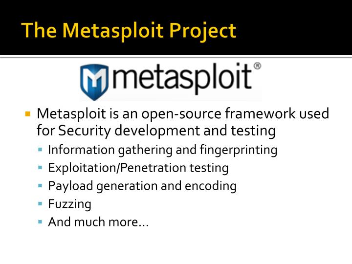 The Metasploit Project