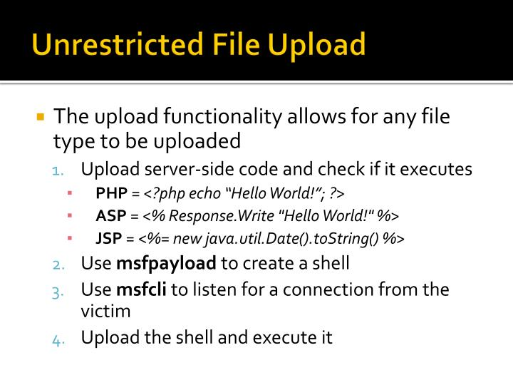 Unrestricted File Upload