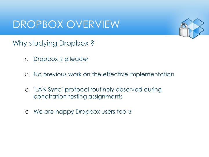 Dropbox overview
