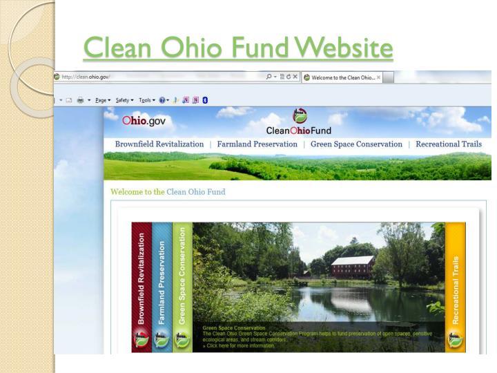 Clean Ohio Fund Website