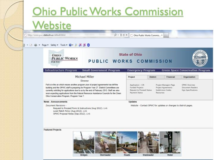 Ohio Public Works Commission Website
