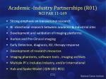 academic industry partnerships r01 nci par 11 169