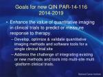goals for new qin par 14 116 2014 2019