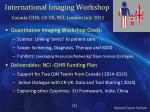 international imaging workshop canada cihr cr uk nci london july 2011
