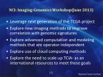 nci imaging genomics workshop june 2013