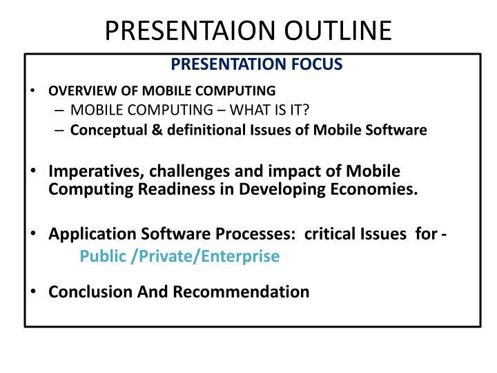 Presentaion outline