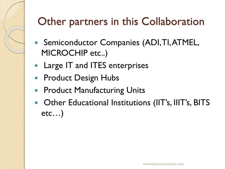 Other partners in this Collaboration