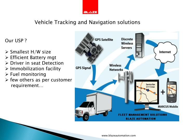Vehicle Tracking and Navigation solutions