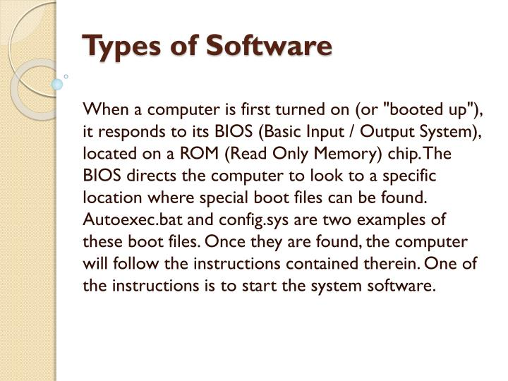 types of software n.
