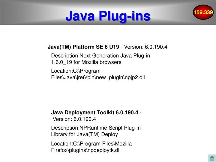 Java Plug-ins