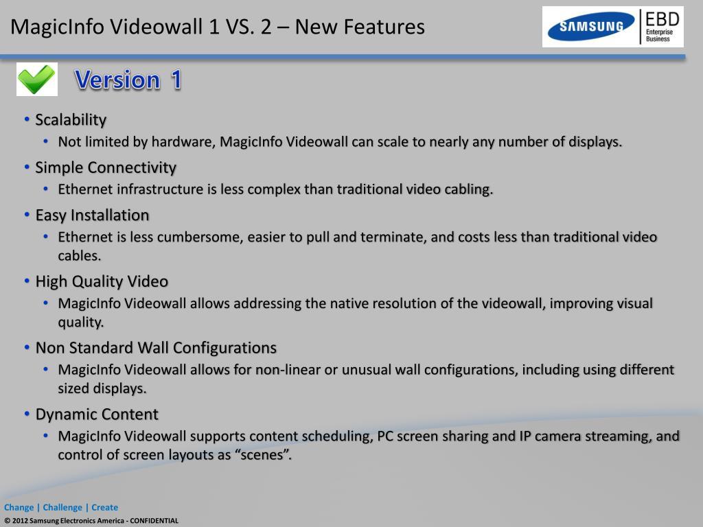 PPT - Samsung Videowalls PowerPoint Presentation - ID:1574314