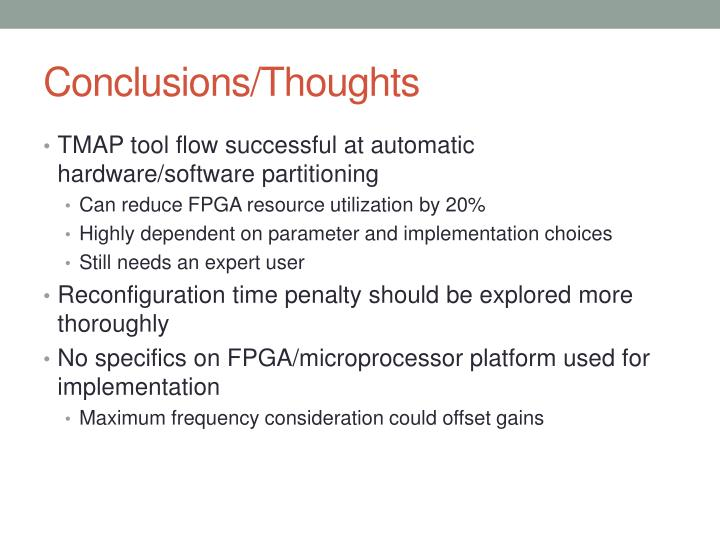 Conclusions/Thoughts