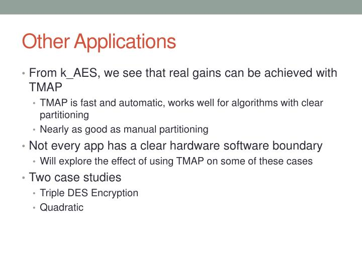 Other Applications