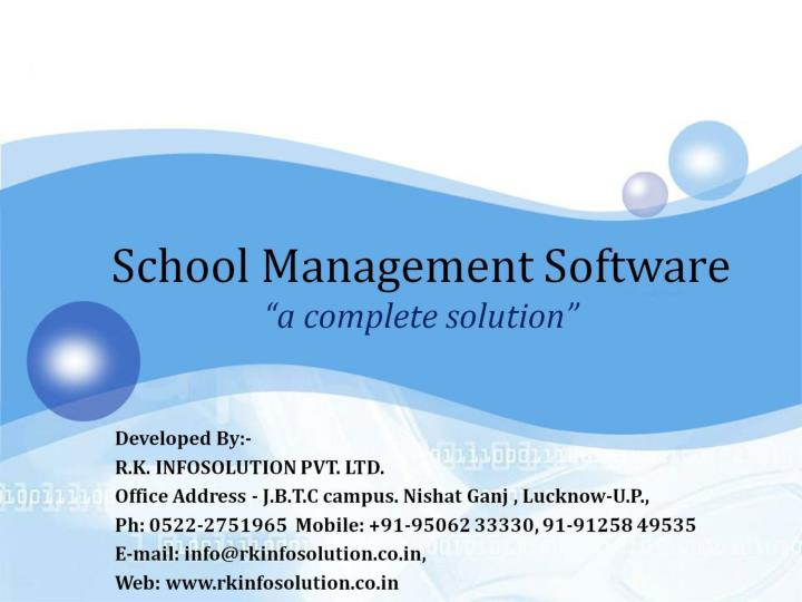 school management software a complete solution n.