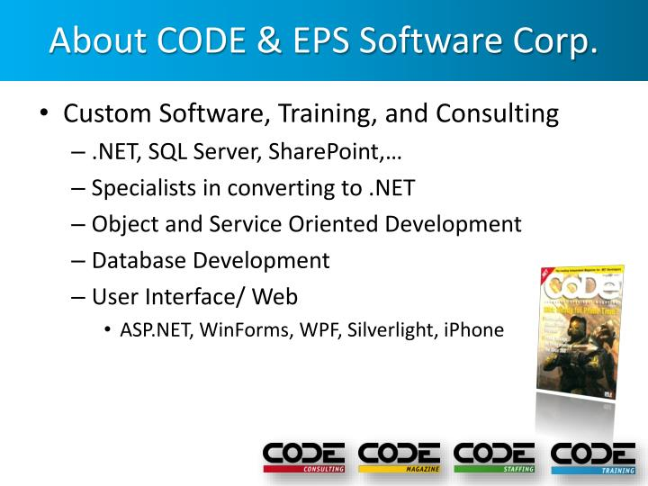 About code eps software corp