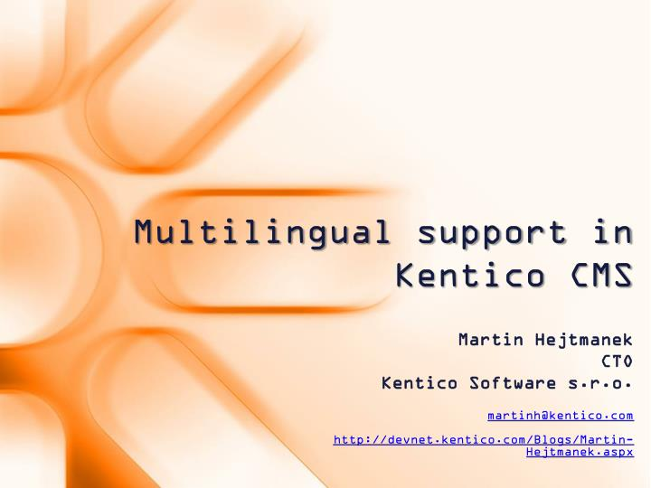 multilingual support in kentico cms n.