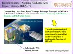 design example gamma ray large area space telescope glast1