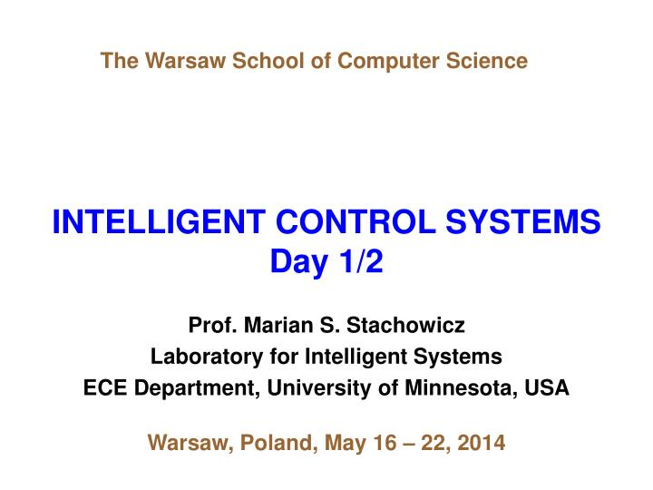 intelligent control systems day 1 2 n.