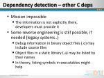 dependency detection other c deps