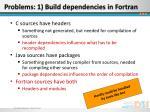problems 1 build dependencies in fortran1