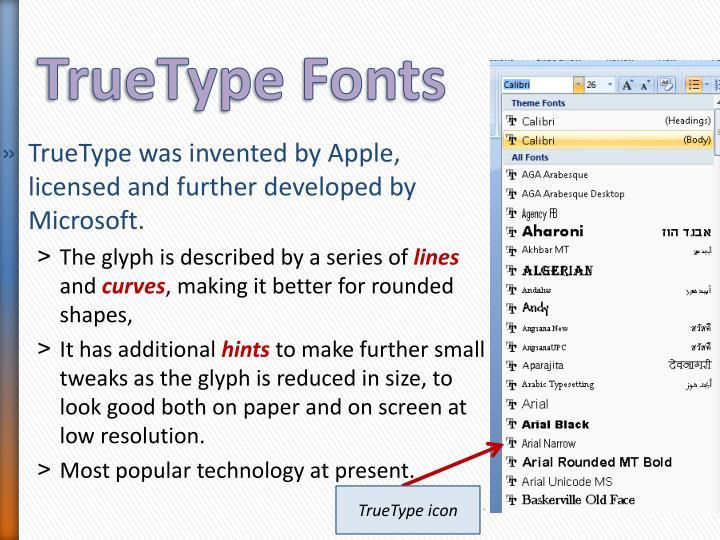 TrueType Fonts