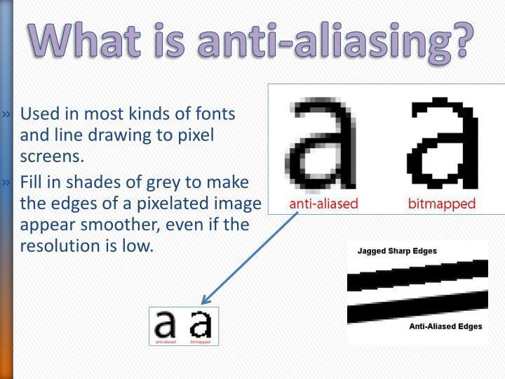 What is anti-aliasing?