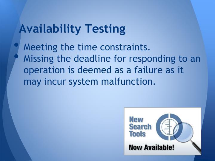 Availability Testing