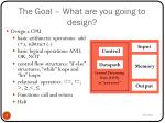 the goal what are you going to design