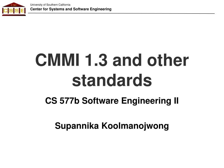 cmmi 1 3 and other standards n.
