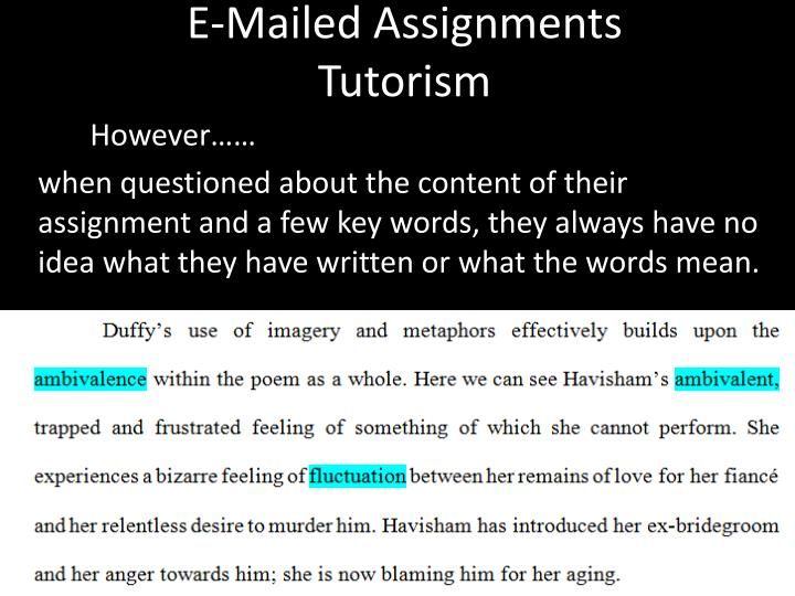 E-Mailed Assignments