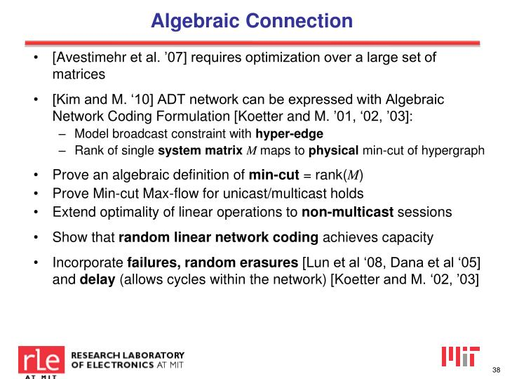 Algebraic Connection