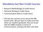 mandatory but non credit courses