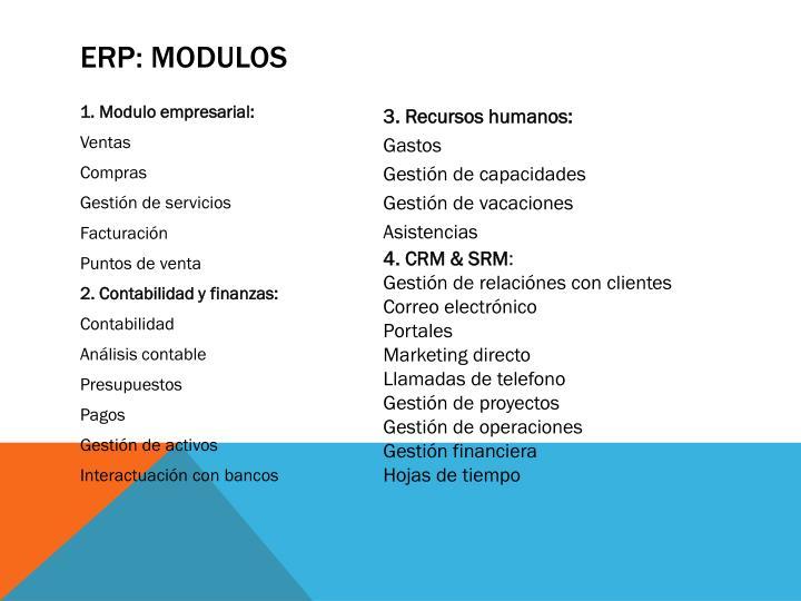 ERP: MODULOS