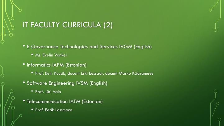 IT faculty curricula (2)