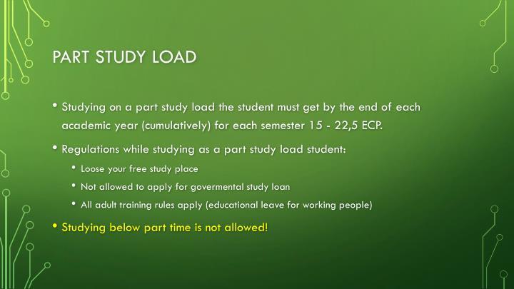 Part study load