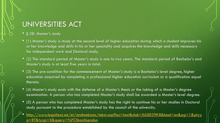 Universities act