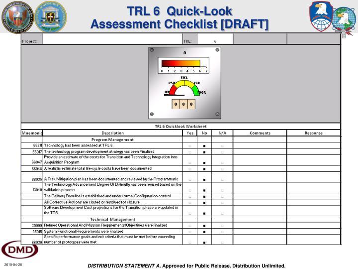 TRL 6  Quick-Look