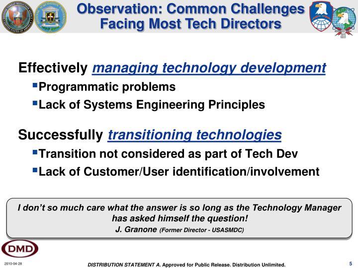 Observation: Common Challenges