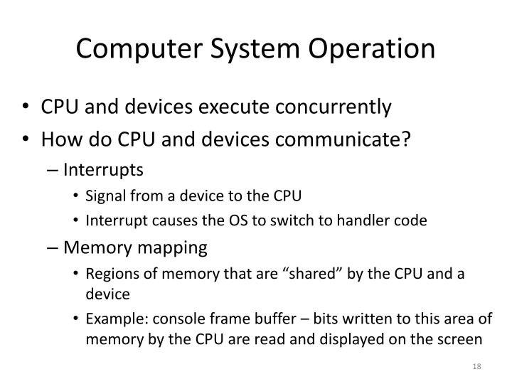 Computer System Operation