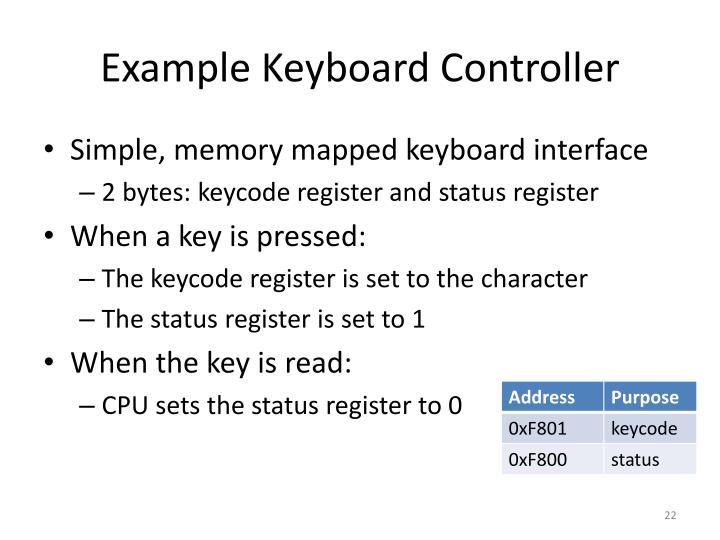 Example Keyboard Controller