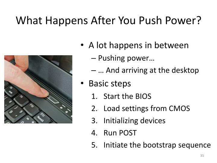What Happens After You Push Power?