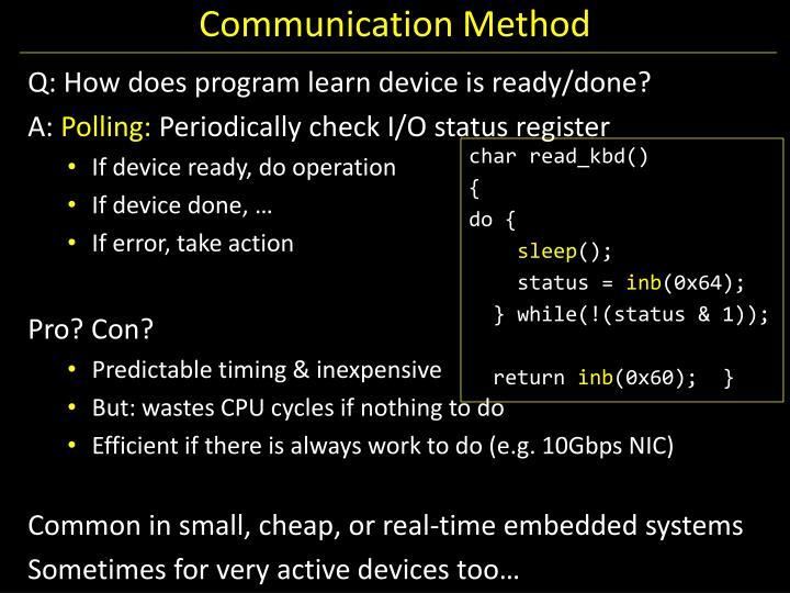 Communication Method