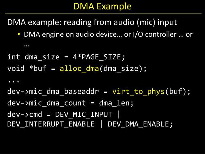 DMA Example