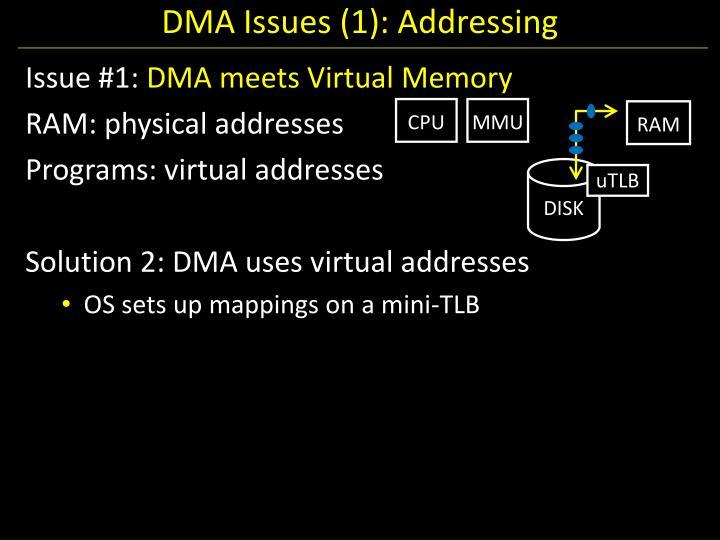 DMA Issues (1): Addressing