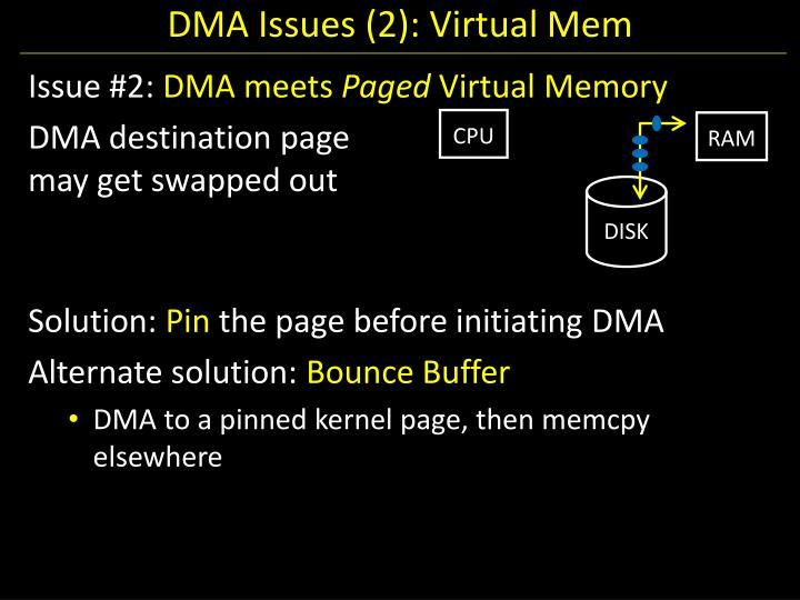 DMA Issues (2): Virtual Mem